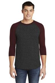 American Apparel  ®  Poly-Cotton 3/4-Sleeve Raglan T-Shirt. BB453W