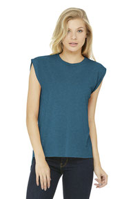 BELLA+CANVAS  ®  Women's Flowy Muscle Tee With Rolled Cuffs. BC8804