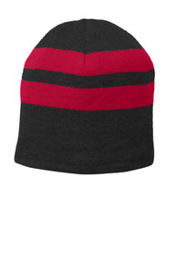 Port & Company ®  Fleece-Lined Striped Beanie Cap. C922