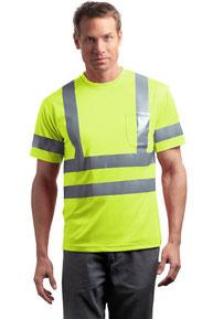 CornerStone ®  - ANSI 107 Class 3 Short Sleeve Snag-Resistant Reflective T-Shirt. CS408