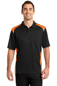 CornerStone ®  Select Snag-Proof Two Way Colorblock Pocket Polo. CS416