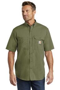 Carhartt Force  ®  Ridgefield Solid Short Sleeve Shirt. CT102417