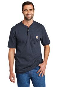 Carhartt ®  Short Sleeve Henley T-Shirt CTK84