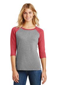 District ®  Women's Perfect Tri ®  3/4-Sleeve Raglan. DM136L
