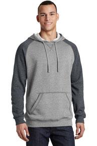 District ®  Young Mens Lightweight Fleece Raglan Hoodie.  DT196