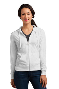 District ®  Women's Fitted Jersey Full-Zip Hoodie. DT2100