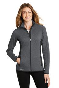 Eddie Bauer ®  Ladies Full-Zip Heather Stretch Fleece Jacket. EB239