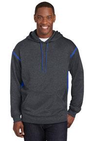 Sport-Tek ®  Tech Fleece Colorblock Hooded Sweatshirt. F246
