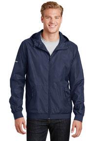 Sport-Tek ®  Embossed Hooded Wind Jacket. JST53