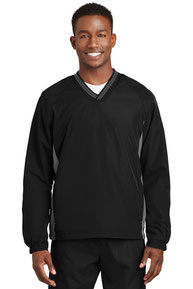 Sport-Tek ®  Tipped V-Neck Raglan Wind Shirt. JST62