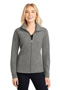 Port Authority ®  Ladies Heather Microfleece Full-Zip Jacket. L235