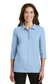 Port Authority ®  Ladies Silk Touch™ 3/4-Sleeve Polo. L562