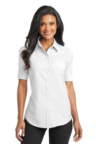 Port Authority ®  Ladies Short Sleeve SuperPro ™  Oxford Shirt. L659