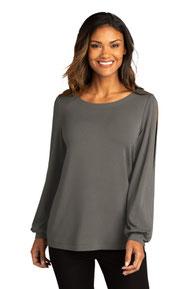 Port Authority  ®  Ladies Luxe Knit Jewel Neck Top. LK5600