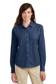 Port & Company ®  - Ladies Long Sleeve Value Denim Shirt.  LSP10