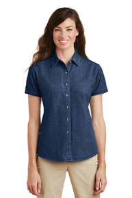 Port & Company ®  - Ladies Short Sleeve Value Denim Shirt.  LSP11