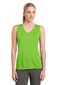 Sport-Tek ®  Ladies Sleeveless PosiCharge ®  Competitor™ V-Neck Tee. LST352