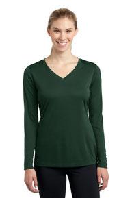 Sport-Tek ®  Ladies Long Sleeve PosiCharge ®  Competitor™ V-Neck Tee. LST353LS