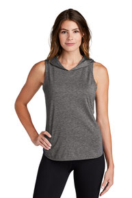 Sport-Tek  ®  Ladies PosiCharge  ®  Tri-Blend Wicking Draft Hoodie Tank. LST410