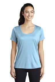 Sport-Tek  ®  Ladies Posi-UV ™  Pro Scoop Neck Tee. LST420
