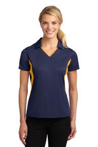 Sport-Tek ®  Ladies Side Blocked Micropique Sport-Wick ®  Polo. LST655