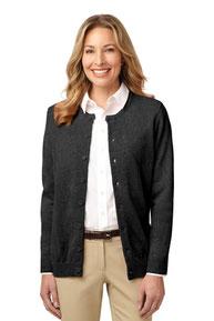 Port Authority ®  Ladies Value Jewel-Neck Cardigan Sweater. LSW304