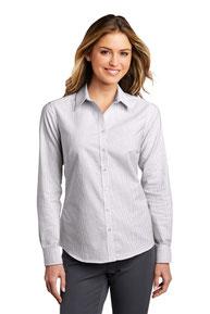 Port Authority  ®  Ladies SuperPro  ™  Oxford Stripe Shirt. LW657