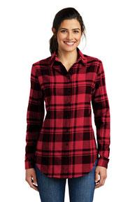 Port Authority ®  Ladies Plaid Flannel Tunic . LW668