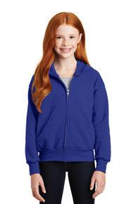 Hanes ®  - Youth EcoSmart ®  Full-Zip Hooded Sweatshirt. P480
