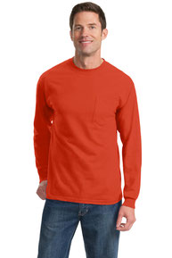 Port & Company ®  Tall Long Sleeve Essential Pocket Tee. PC61LSPT