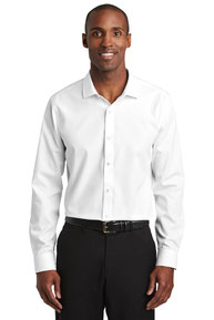 Red House  ®  Slim Fit Nailhead Non-Iron Shirt. RH390