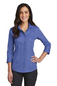 Red House ®   Ladies 3/4-Sleeve Nailhead Non-Iron Shirt. RH690