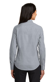 Red House ®  Ladies Windowpane Plaid Non-Iron Shirt. RH71