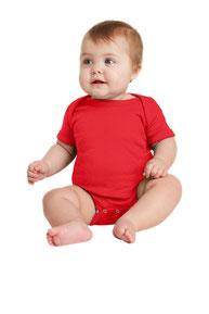 Rabbit Skins ™  Infant Short Sleeve Baby Rib Bodysuit. RS4400