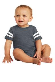 Rabbit Skins ™  Infant Football Fine Jersey Bodysuit. RS4437