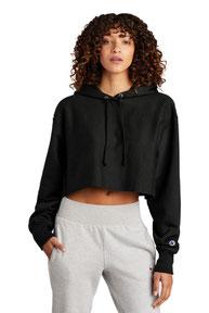 Champion  ®   Women's Reverse Weave  ®   Cropped Cut-Off Hooded Sweatshirt RW01W