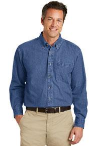 Port Authority ®  Heavyweight Denim Shirt. S100