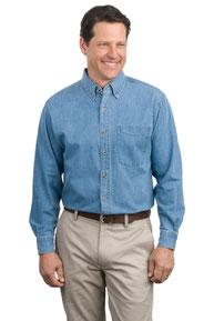 Port Authority ®  Long Sleeve Denim Shirt. S600