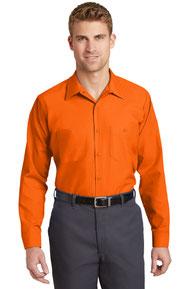 Red Kap ®  - Long Sleeve Industrial Work Shirt.  SP14