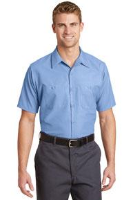 Red Kap ®  Long Size, Short Sleeve Industrial Work Shirt. SP24LONG