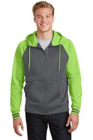 Sport-Tek ®  Sport-Wick ®  Varsity Fleece Full-Zip Hooded Jacket. ST236