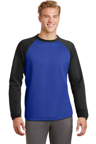 DISCONTINUED  Sport-Tek ®  Sport-Wick ®  Raglan Colorblock Fleece Crewneck. ST242