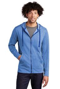 Sport-Tek  ®  PosiCharge  ®  Tri-Blend Wicking Fleece Full-Zip Hooded Jacket ST293