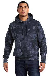Champion  ®  Reverse Weave  ®  Scrunch-Dye Tie-Dye Hooded Sweatshirt. TDS101