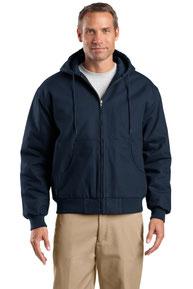 CornerStone ®  Tall Duck Cloth Hooded Work Jacket. TLJ763H