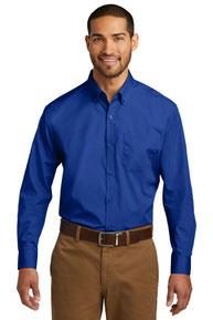 Port Authority ®  Tall Long Sleeve Carefree Poplin Shirt. TW100