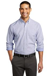 Port Authority  ®  SuperPro  ™  Oxford Stripe Shirt. W657