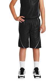 Sport-Tek ®  Youth PosiCharge ®  Mesh Reversible Spliced Short. YT565